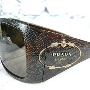 6d878de125366 Prada Accessories - 💥Rare Find💥 Prada Saffiano Embossed Sunglasses